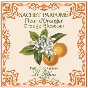 Le Blanc Orange Blossom - Pomerančový květ Vonný sáček 11 x 11 cm 8 g