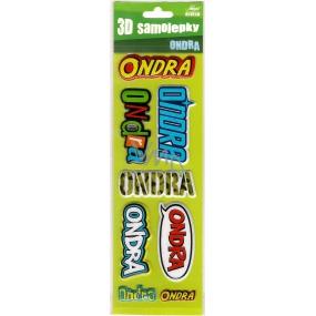Nekupto 3D Samolepky se jménem Ondra 8 kusů 058