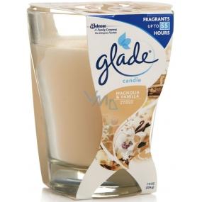 Glade by Brise Magnolia & Vanilla vonná velká svíčka ve skle 224 g