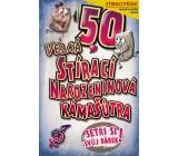 Nekupto Stírací přání k narozeninám Kámašútra 50 G 50 3338 21,5 x 13,5 cm