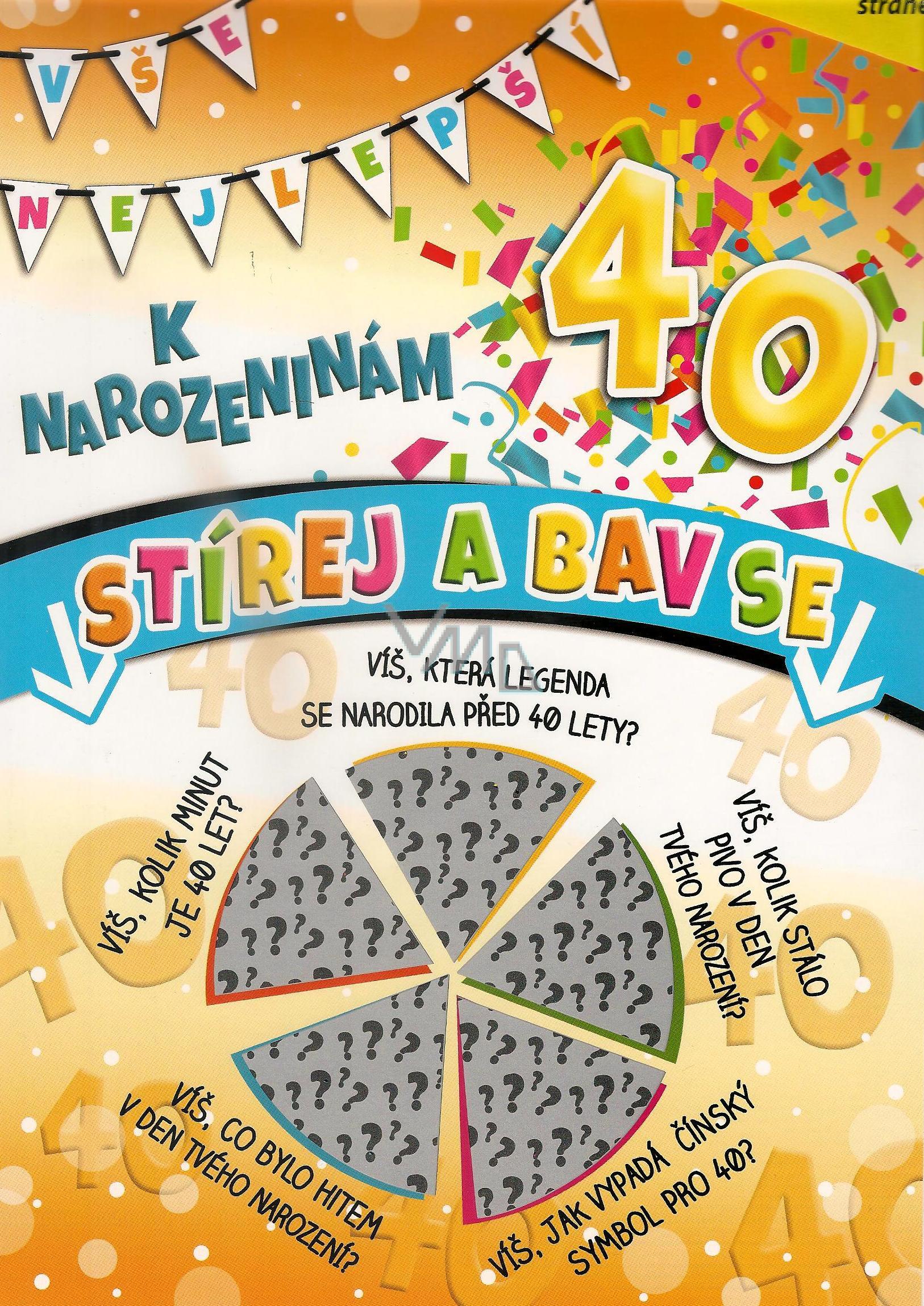 přání k narozeninám 40 Nekupto Stírací přání k narozeninám 40 G 40 3357 32 x 23 cm   VMD  přání k narozeninám 40