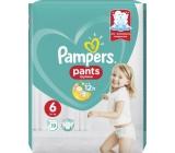 Pampers Pants 6 Giant 15+ kg plenkové kalhotky 19 kusů