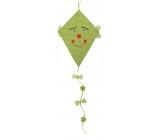 Drak velký z látky 46 cm+ ocásek 66 cm zelený