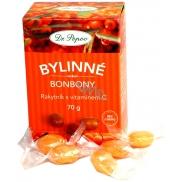 Dr. Popov Bylinné bonbony Rakytník s vitaminem C pro zdravé mlsání 70 g