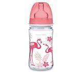 Canpol babies Jungle Láhev se širokým hrdlem růžová pro děti od 3 měsíců 240 ml