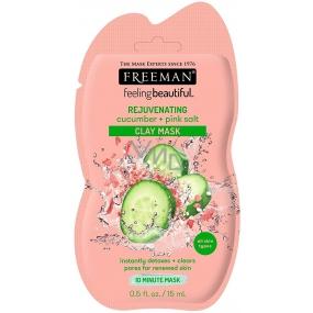 Freeman Okurka a Růžová himálajská sůl kaolínová čisticí pleťová maska s omlazujícím účinkem 15 ml