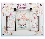 Bohemia Gifts & Cosmetics Jednorožec sprchový gel 100 ml + šampon na vlasy 100 + sůl do koupele 110 g pro děti kosmetická sada