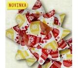 Nekupto Hvězdice střední luxus vánoční, červeno-zlatá 6,5 cm HV 208 01