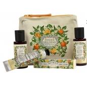 Panier des Sens Pomerančový květ sprchový gel 50 ml + tělové mléko 50 ml + toaletní voda 3,5 ml + krém na ruce 30 ml, cestovní dárková sada