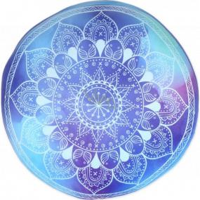 Albi Relaxační polštář kulatý Mandala modrá 35 cm