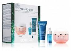 Biotherm Aquasource Night Spa noční pleťový krém 20 ml + Aquasource výživný hydratační krém pro suchou až velmi suchou citlivou pleť 50 ml + Life Plankton Elixir ochranné regenerační sérum 7 ml, kosmetická sada