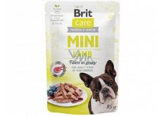 Brit Care Mini Lamb Fillets In Gravy kompletní superprémiové krmivo pro dospělé psy mini plemen kapsička 85 g