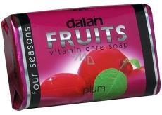 Dalan Fruits Plum toaletní mýdlo 100 g