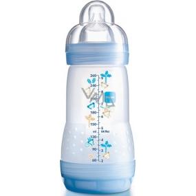 Mam Anti-Colic antikoliková láhev na krmení, silikonová jemná savička různé barvy 2+ měsíců 260 ml