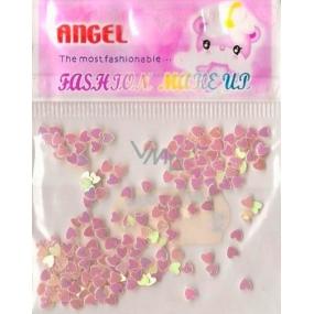 Angel Ozdoby na nehty srdíčka světle oranžové 1 balení