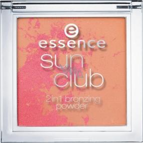 Essence Sun Club 2v1 Bronzing Powder bronzový pudr 20 Sunset 10 g