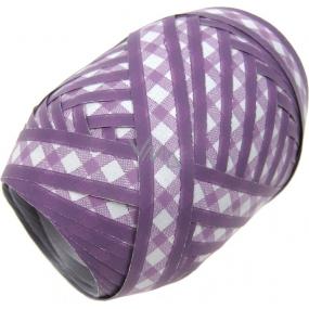 Nekupto Klubíčko Luxus fialová s bílým kárem 152 33 KB 10 m