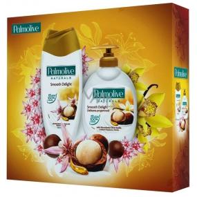 Palmolive Makadamiové potěšení Naturals Macadamia sprchový gel 250 ml + Naturals Macadamia tekuté mýdlo 300 ml, kosmetická sada