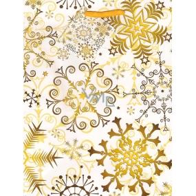 Nekupto Dárková papírová taška střední 882 01 WBM Žluté vločky 23 x 18 x 10 cm