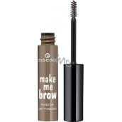 Essence Make Me Brow Eyebrow Gel Mascara gelová řasenka na obočí 03 Soft Browny Brows 3,8 ml