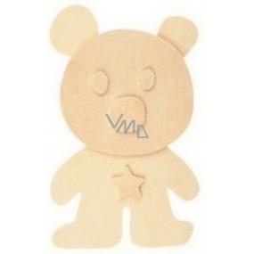 Dřevěná předloha k vymalování 3D Medvěd 13 cm