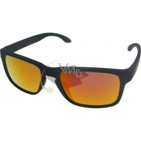 Dudes & Dudettes JK442 černé zlato-růžové sklo sluneční brýle pro děti