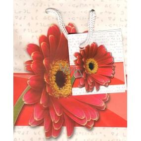 Nekupto Dárková papírová taška malá 14 x 11 x 6,5 cm Gerbera, 091 30 KAS