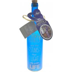 Nekupto LED láhve svítící Family 30 x 7 cm