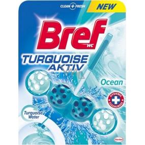 Bref Turquoise Aktiv Ocean WC blok pro hygienickou čistotu a svěžest Vaší toalety, obarvuje vodu do tyrkysového odstínu 50 g
