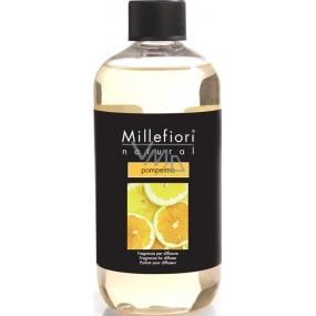 Millefiori Milano Natural Pompelmo - Grep Náplň difuzéru pro vonná stébla 500 ml