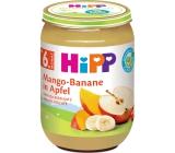 Hipp Ovoce Bio Jablka s mangem a banány ovocný příkrm, snížený obsah laktózy a bez přidaného cukru pro děti 190 g