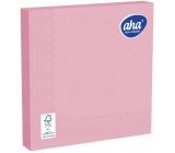 Aha Papírové ubrousky jednobarevné 3 vrstvé 33 x 33 cm 20 kusů růžové
