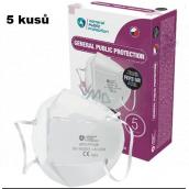 Respirátor ústní ochranný - filtrační polomaska 4-vrstvý FFP3,GPP3 5 kusů