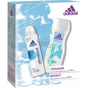 Adidas Climacool deodorant antiperspirant sprej 150 ml + Protect sprchový gel 250 ml, pro ženy kosmetická sada