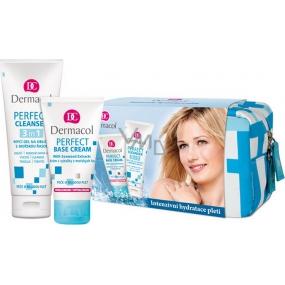 Dermacol Perfect Mořské řasy výživný krém 50 ml + mycí gel na obličej s červenou mořskou řasou 100 ml + taštička, kosmetická sada