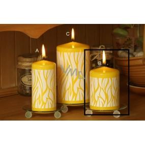 Lima Savana svíčka žlutá válec 70 x 100 mm 1 kus