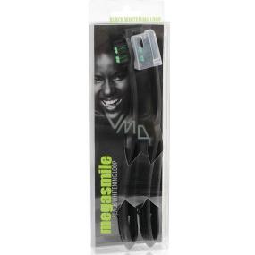 MegaSmile Black Whitening Loop Kartáček na zuby nejlehčí na světě s objemnější rukojetí 2 kusy, duopack