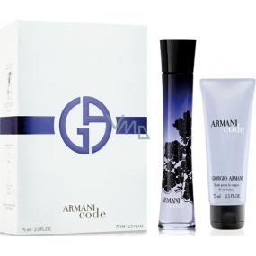 Giorgio Armani Code parfémovaná voda pro ženy 75 ml + tělové mléko 75 ml, dárková sada