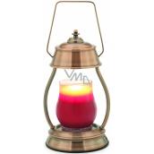 Candle Warmers Hurricane nahřívací lucerna na svíčky měděná 15,5 x 27 x 5 cm