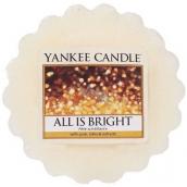 Yankee Candle All Is Bright - Všechno jen září vonný vosk do aromalampy 22 g