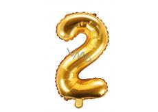 Balónek nafukovací číslo 2, 35 cm fóliový