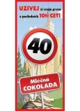 Bohemia Gifts Mléčná čokoláda Vše nejlepší 40, dárková 100 g