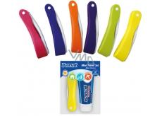 Banat Cestovní zubní kartáček + bělicí zubní pasta 15 ml, cestovní sada