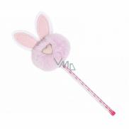 Albi Propiska s bambulí Růžový králíček
