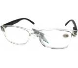 Berkeley Čtecí dioptrické brýle +2,0 plast průhledné, černé stranice 1 kus MC2166