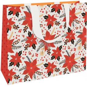 Nekupto Dárková papírová taška luxusní 30 x 23 cm Vánoční hvězda WLFL 1996