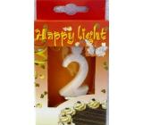 Happy light Dortová svíčka číslice 2 v krabičce
