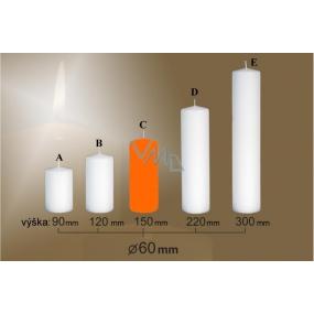 Lima Svíčka hladká oranžová válec 60 x 150 mm 1 kus