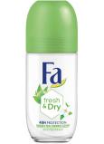 Fa Fresh & Dry Green Tea Sorbet Scent 48h guličkový antiperspirant dezodorant roll-on pre ženy 50 ml
