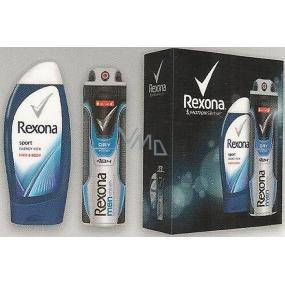 Rexona FM Cobalt Sport Energy Kick sprchový gel 250 ml + deodorant spray pro muže 150 ml, kosmetická sada
